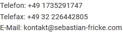 tel/fax/mail
